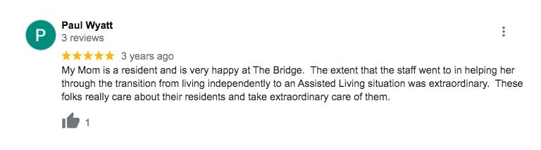 The Bridge at Orlando Senior Living Reviews